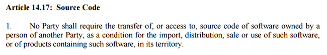 The full text of the TPP is out. This line suggests China won't be joining any time soon. https://t.co/NynmukEYvS https://t.co/viAxCSK6sD