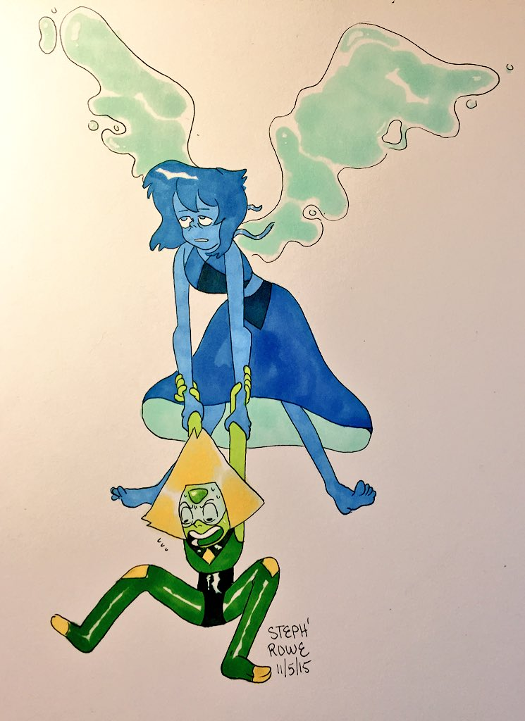 """Don't let me fall !!! #StevenUniverse #peridot #Lapis"""