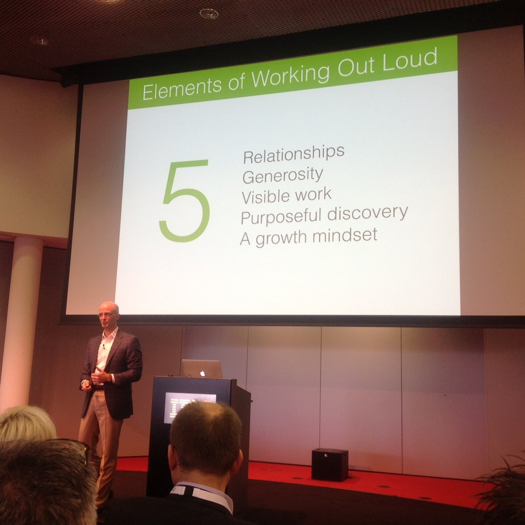 Reciprocal altruism is one of key elements of #workingoutloud @johnstepper on #soccnx https://t.co/yp6A1FY0eg
