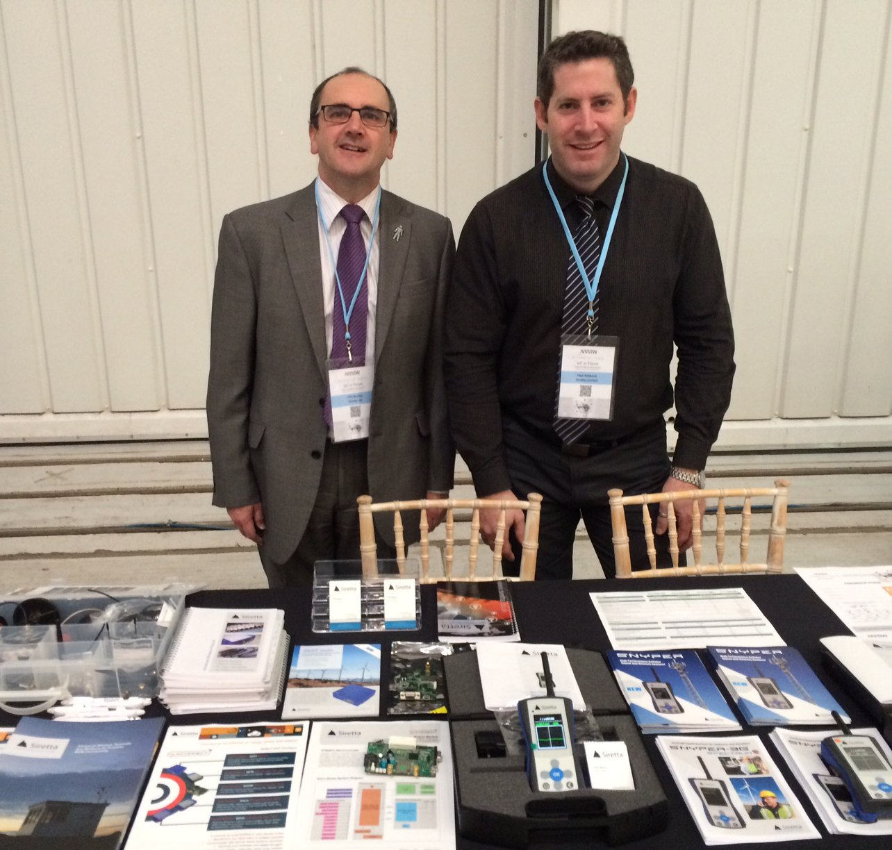 The Siretta team at the Arrow IoT Seminar in Cambridge