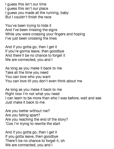 Are you missing me lyrics