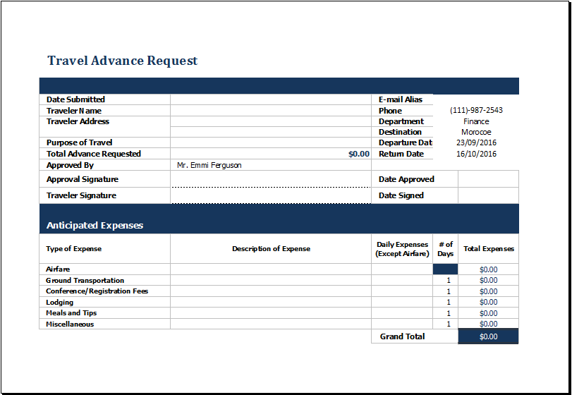 office templates on twitter travel advance request form https t
