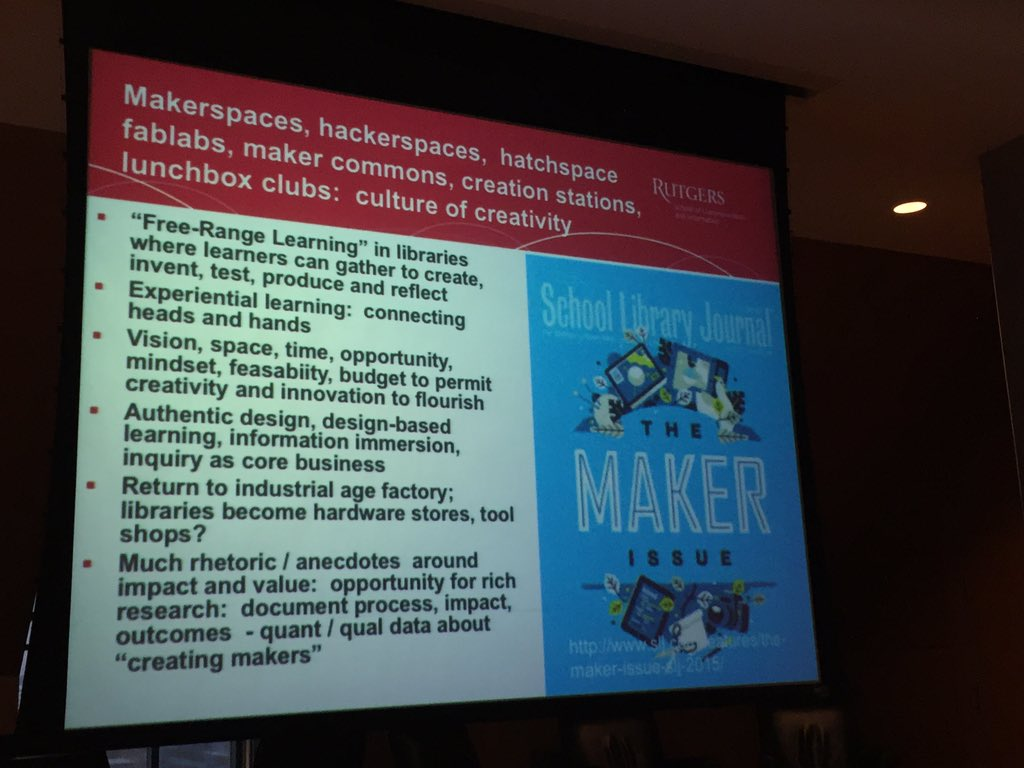 Time to move from rhetoric/anecdotes to collecting data on creating makers #TM2015 https://t.co/Ez1V5p8AJN