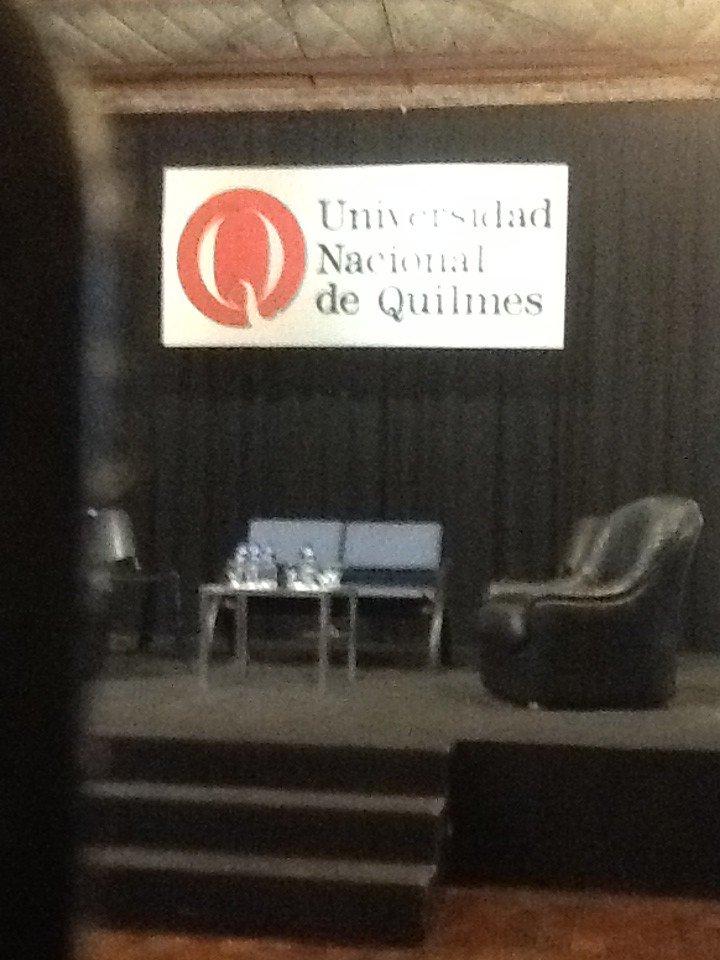 En la @UNQoficial esperando el inicio del Encuentro La Universidad Bimodal @Bimodalidad https://t.co/yZBeKGkUHh