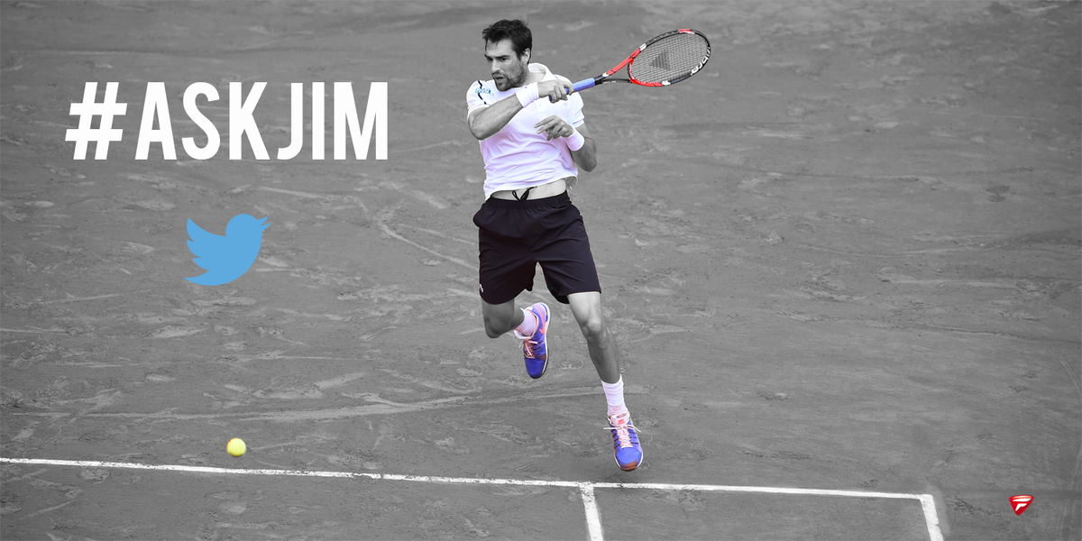 Q&A session tomorrow morning guys? Ask your questions now with #AskJim I'll answer you with the @tecnifibre account!