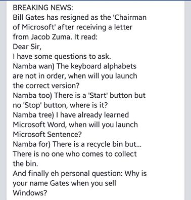 Amonyo254 on twitter southafricansvskenyans jacob zuma writes a southafricansvskenyans jacob zuma writes a letter to bill gates picitteretl9l7vpsi expocarfo Gallery