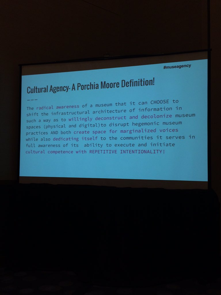 Awesome @PorchiaMuseM didn't like any defs she found of cultural agency, so she wrote her own. #museagency #MCN2015 https://t.co/8NAOPKh9k9