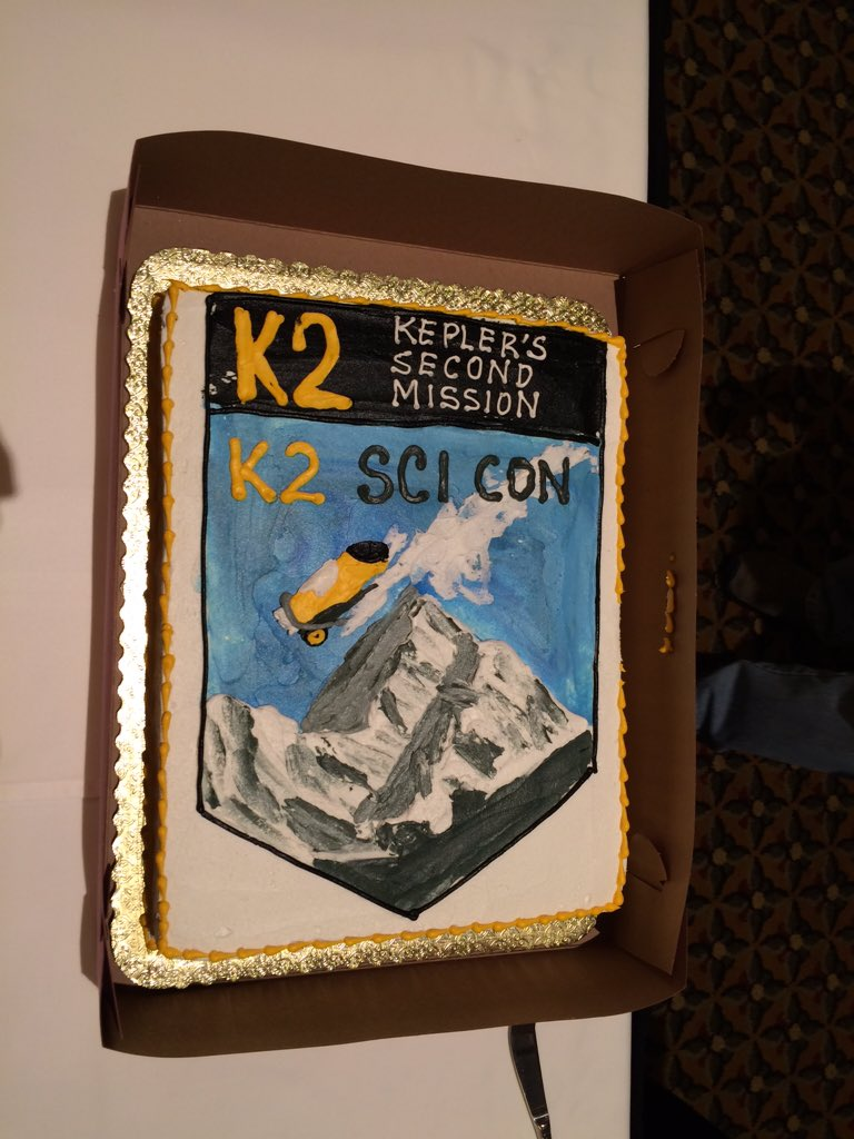 K2 cake at the end of a great conference! #K2SciCon https://t.co/z43nYaKQHe