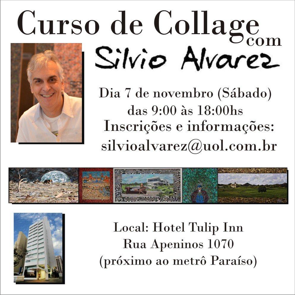 O Curso de Collage com Silvio Alvarez 2015 acontece neste sábado em São Paulo. Ainda dá tempo de se inscrever. https://t.co/oncp2oFZEk