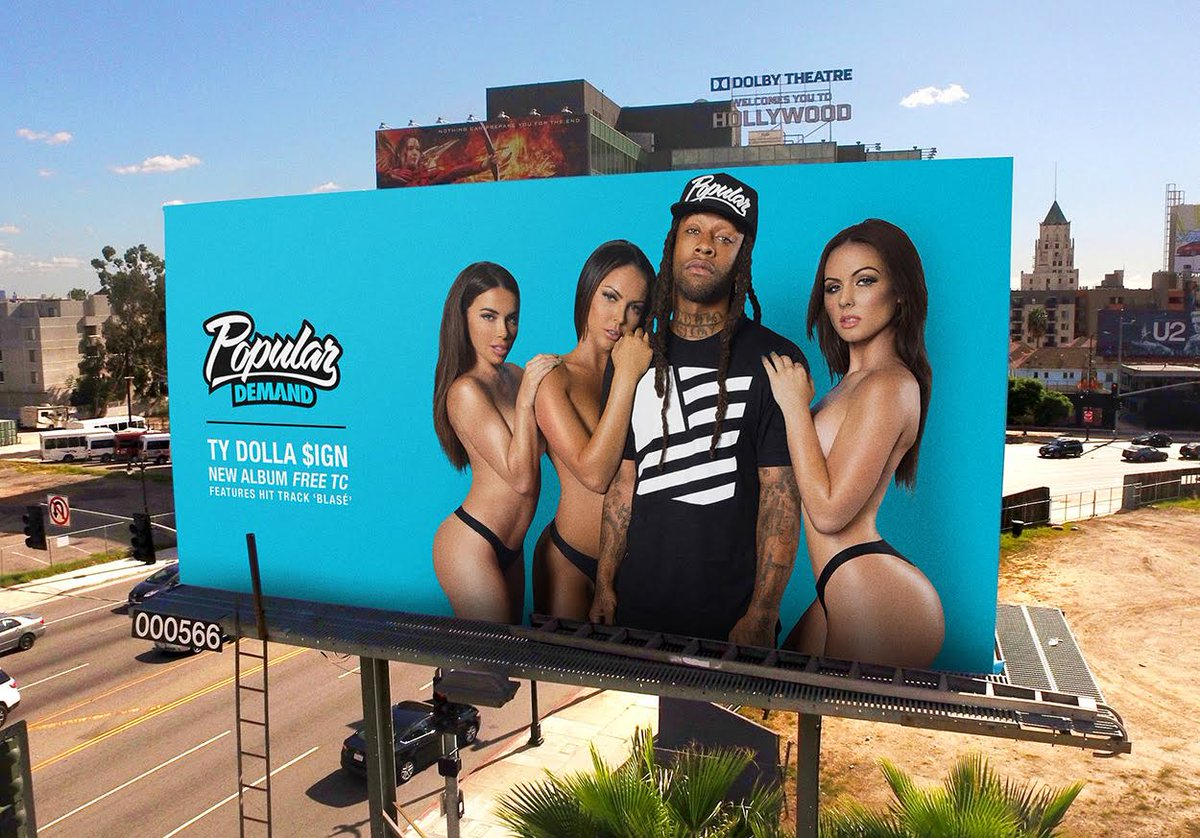 We're hyped to unveil our 1st billboard campaign today with our day 1 @TyDollaSign. #FreeTC #PopularDemand https://t.co/j7wroG3eZy