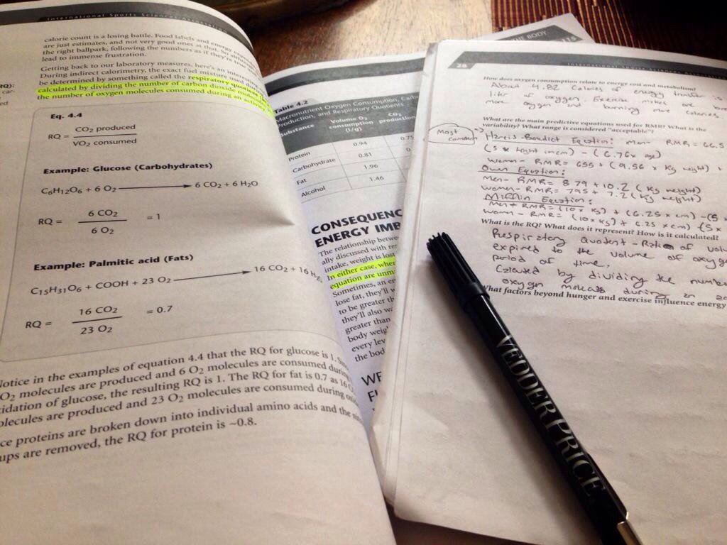 Stephanie Cascio On Twitter Studying For My Fitness Nutrition