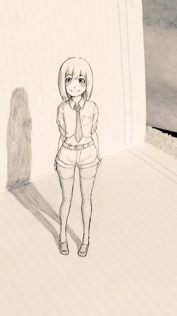ノート落書き3D