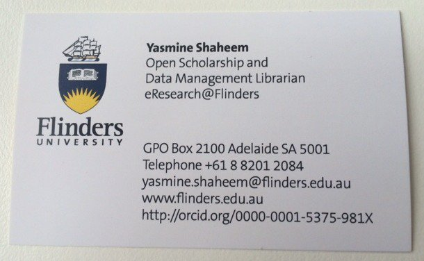 Flinders uni library on twitter good news flinders staff you can flinders uni library on twitter good news flinders staff you can now add your orcid id to your flinders university business card reheart Gallery