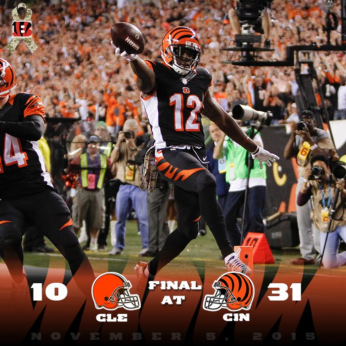 The battle is won.  #BattleOfOhio #CLEvsCIN #LetsRoar https://t.co/UstHy9dB2s