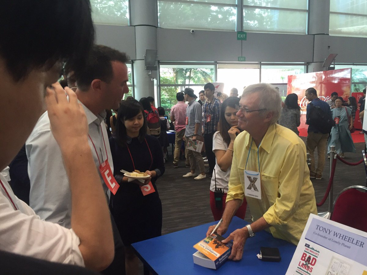 #TonyWheeler signing copies of @lonelyplanet - don't forget to meet someone new during the breaks! https://t.co/r5M5ypqD6s