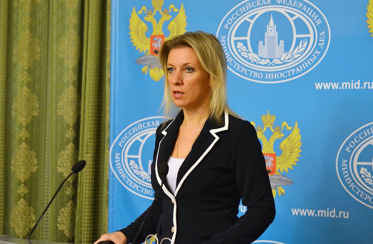 "MFA Russia 🇷🇺 on Twitter: ""Briefing by FM Spokeswoman Maria ..."