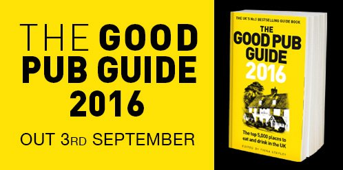 Love good pubs? Then follow + RT by 3pm for chance to win a copy of #GoodPubGuide 2016! https://t.co/os3MSl7tm4 https://t.co/MXg0uv8mA8