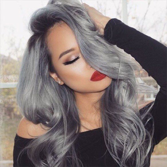 Laura Fashion On Twitter Red Lipstick Silver Hair Https T Co
