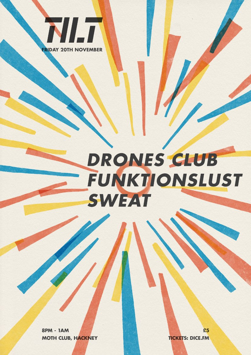 Welcoming @DronesClubMusic @funkt1onslust and Sweat to MOTH CLUB on Friday 20 November. https://t.co/3ujVLxglE7 https://t.co/mFzjNU02Hz