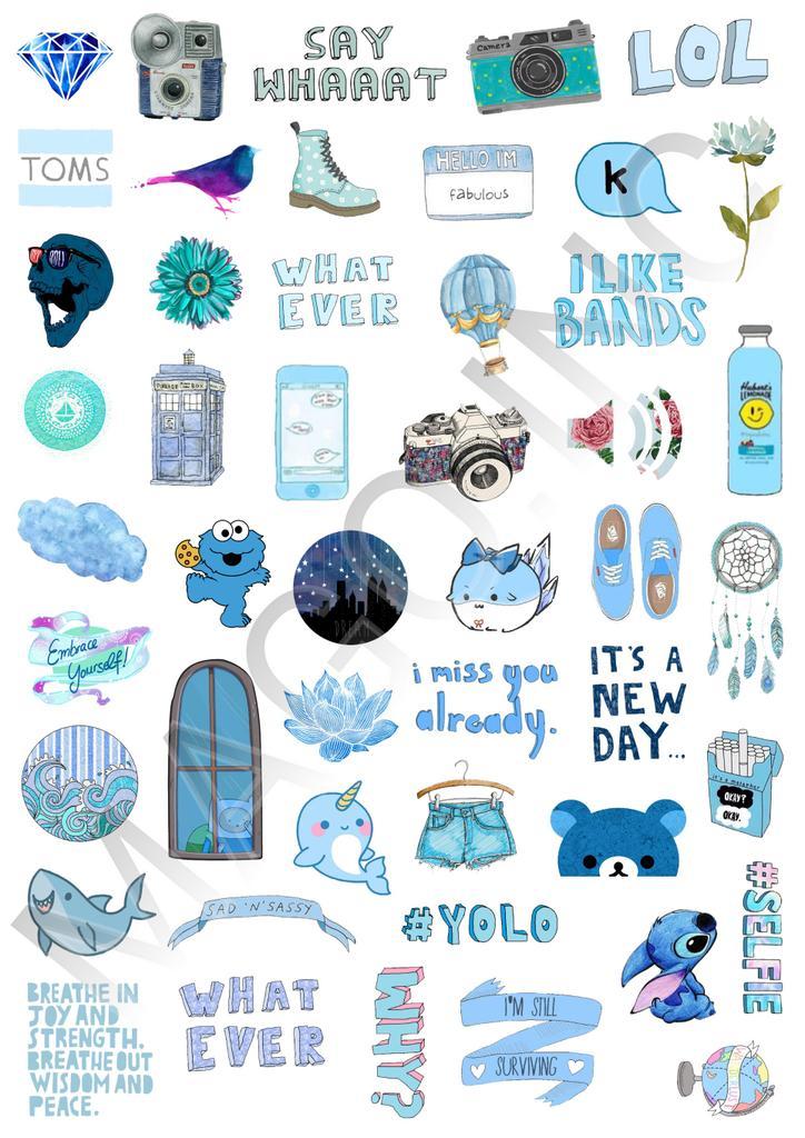 Sticker Tumblr On Twitter Quot Tumblr Blue Edition Idr 35k 48