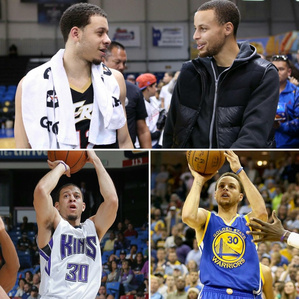 On Saturday night, the Curry bros have their 1st @nba matchup  #BiologicalSplashBrothers