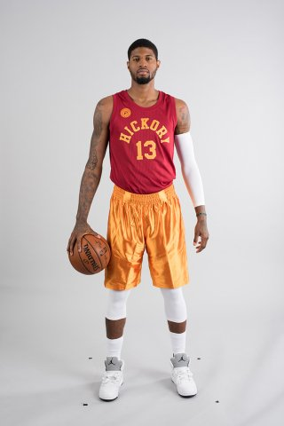 e236a0ed388 welcome to indiana basketball paul george models the hickory pacers  uniforms to debut tonight via pacers