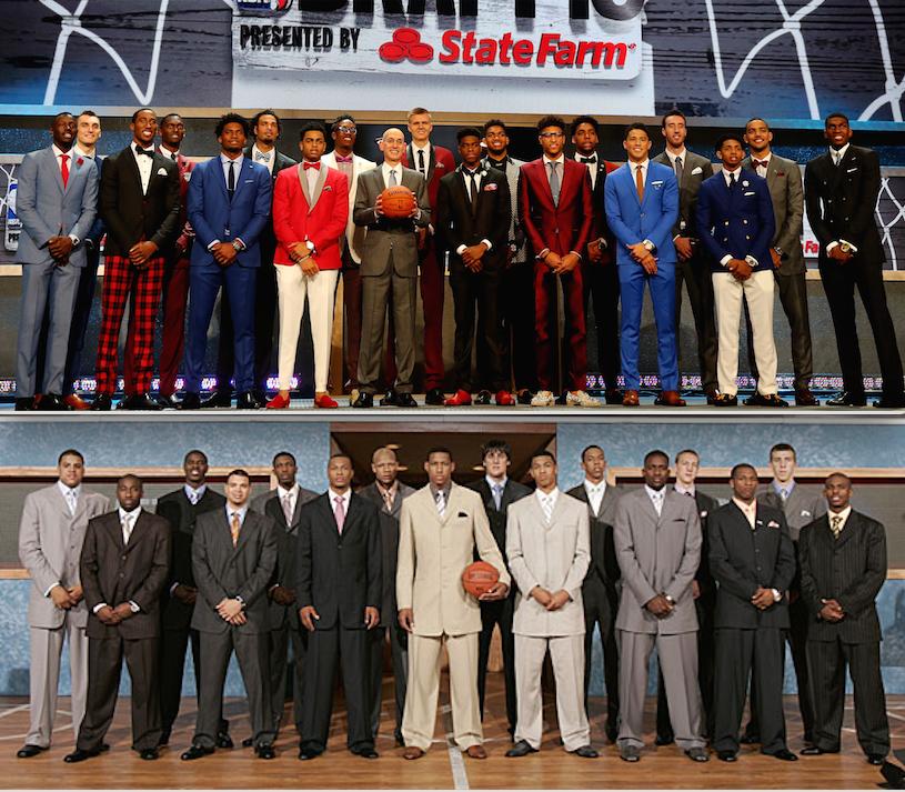 Love this NBA draft photo comparison of 2005 vs 2015, how far menswear has come https://t.co/dp3GQ0kEaa