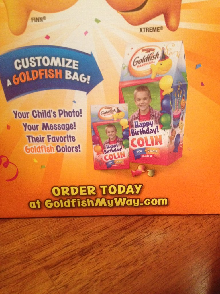 Mad Miller On Twitter Someone Just Customize Me A Bag Of Goldfish For My Birthday Https T Co Mthqvvbtuv