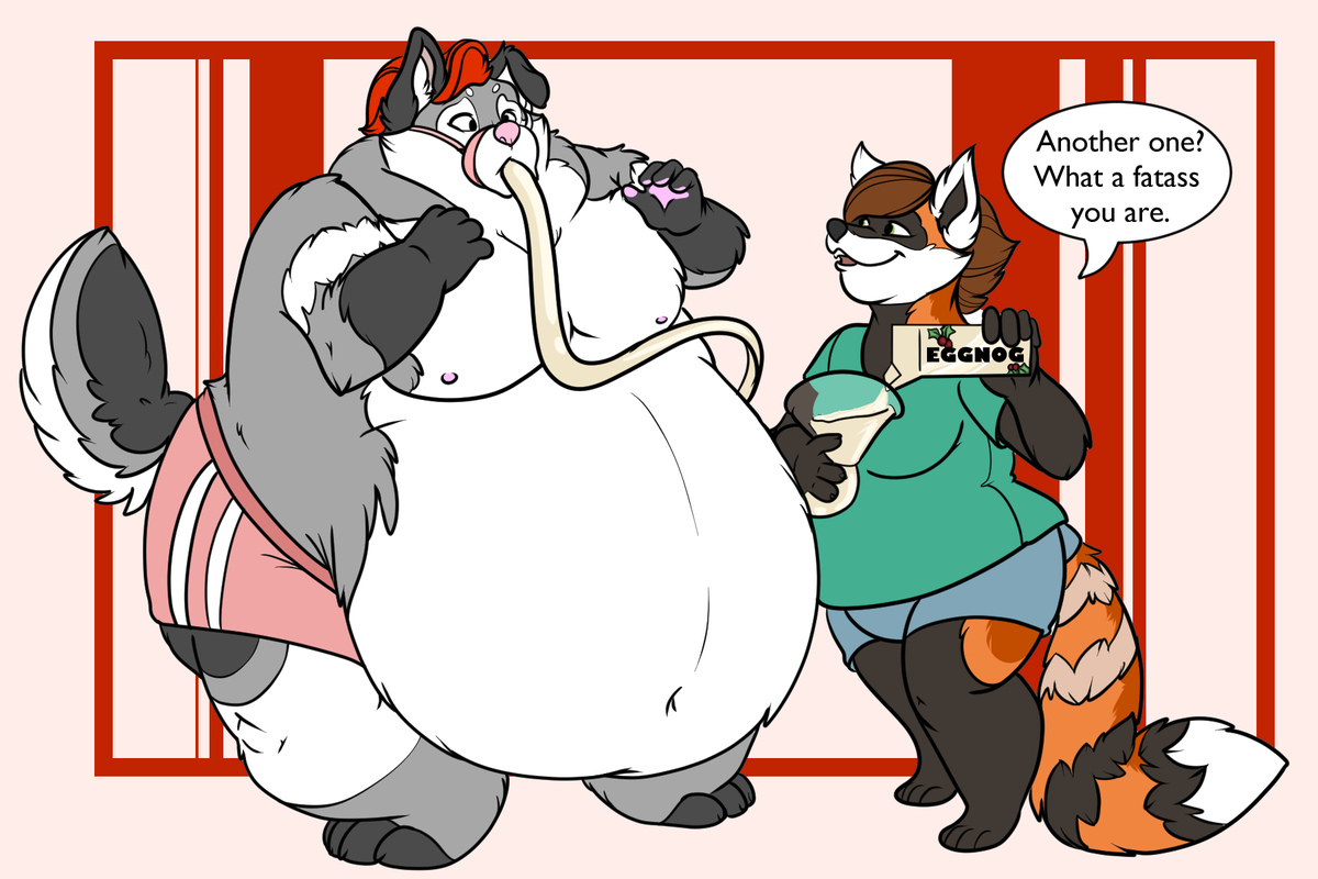 Happy #FatFriday <3 Who needs gravity, when you have suction. Feat @Silverwuffamute and myself. https://t.co/oIStZVWHs4