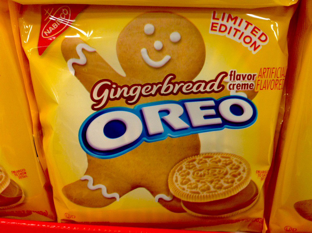 Mike Mozart On Twitter Gingerbread Oreo Cookies Have Just