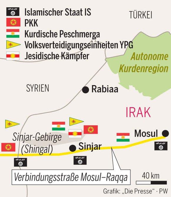 Shingal Irak Karte.Konstantin Krammer On Twitter Kurden Rüsten Zur Befreiung Der