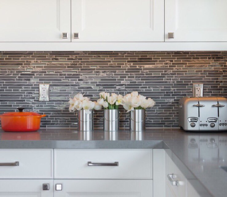 "Caesarstone Coastal Grey Kitchen Caesarstone: Caesarstone On Twitter: ""Designed By Michelle Dugan Design"