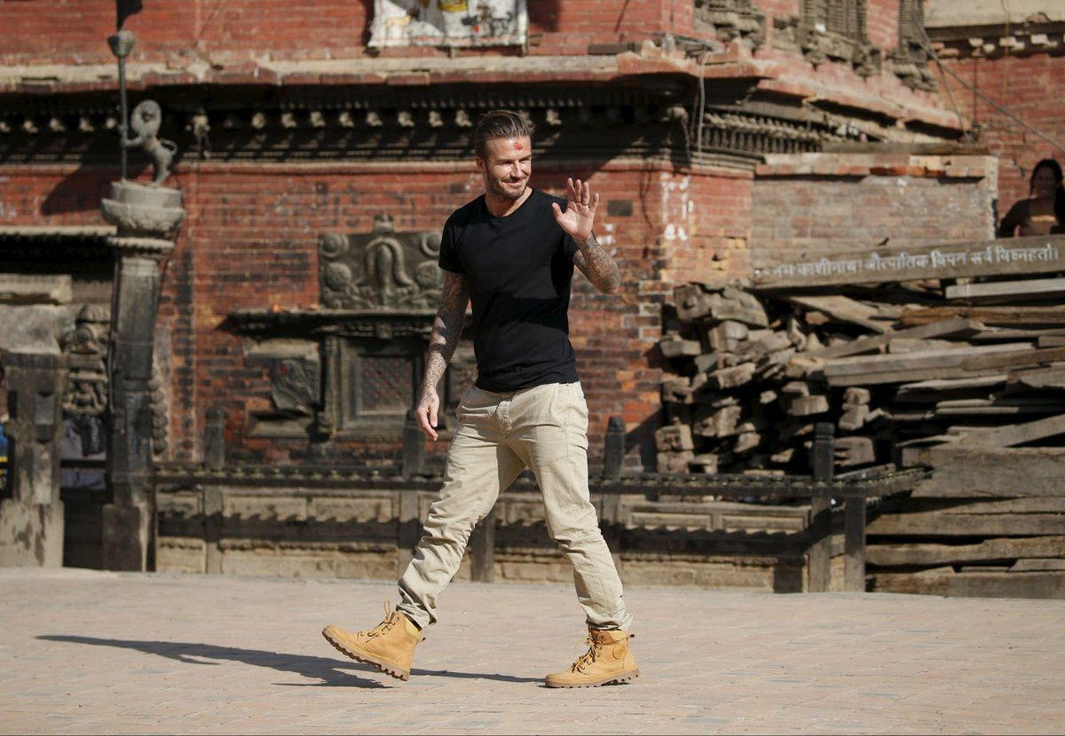 Spotted David #Beckham in Nepal wearing @palladium_boots while on his special @unicef #loveofthegame initiative. https://t.co/YEcHUdH0dF