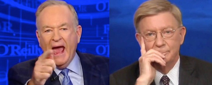 Bill O'Reilly meltdown over George Will VIDEO