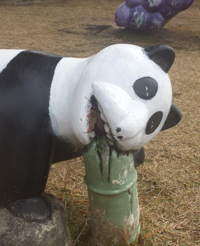 【!発見!】狂気を醸し出すパンダの遊具!?