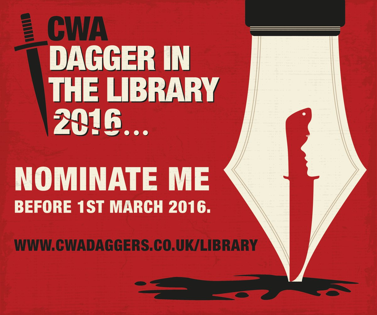 Nominate your favourite author for the CWA Dagger in the Library https://t.co/5euH4T2atY