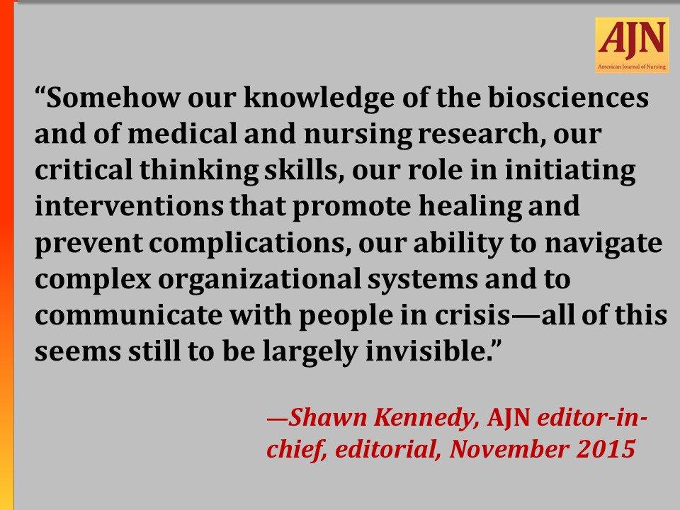 #AJNquoteoftheweek #nursing #WhatNursesDo  To read the editorial in full: https://t.co/u4dKTfpAeh https://t.co/On012qzf4B