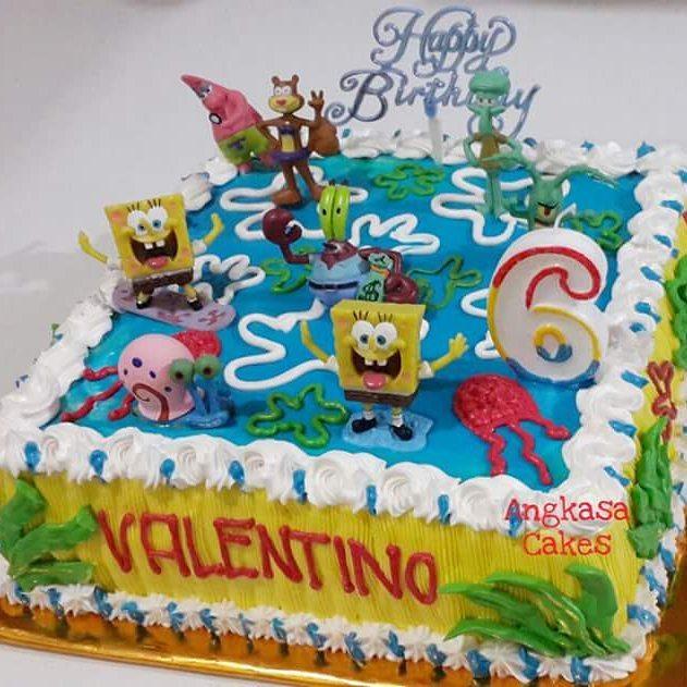 Spongebob Cult On Twitter Spongebob Birthday Cake Spongebobcake