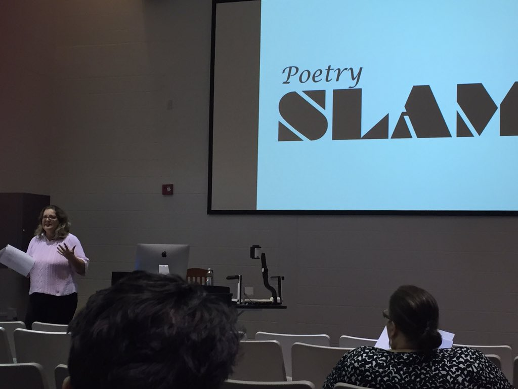 Starting out with a poetry slam this morning at the #weky conference. https://t.co/uRbgLSsd1c