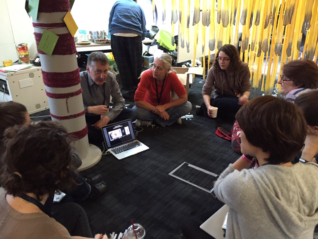 My first #mozfest session: Learning not to fear the future with @msaunby @ProfHelenStorey https://t.co/Bduqp54jAS