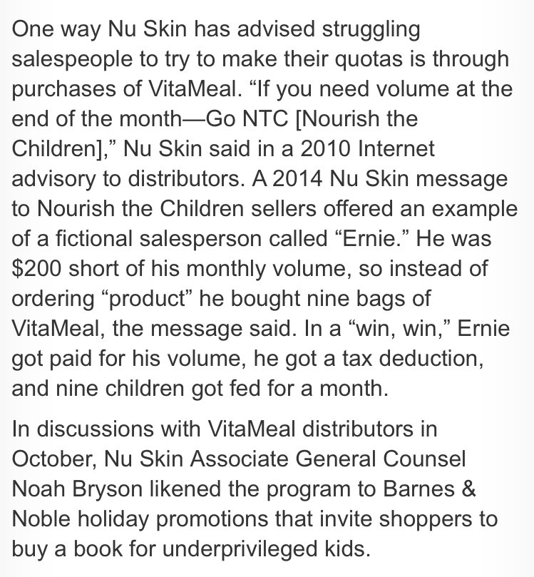 Modest Proposal On Twitter That A Nu Skin Seller Acknowledges
