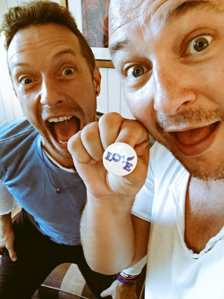 With #chris @coldplay bientot sur @NRJhitmusiconly thanks my friend