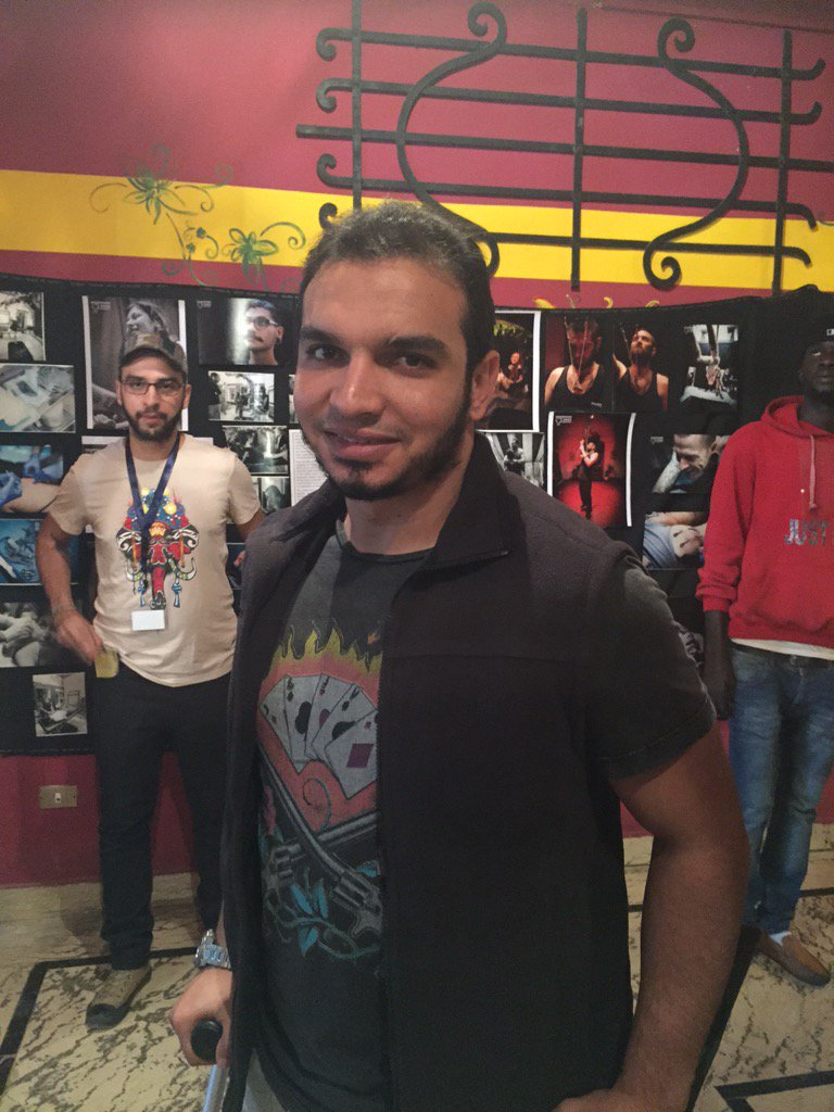 """""""I came here looking for something new and exciting."""" Attendee Hossam Sedik after having finished getting his tattoo https://t.co/352vIGanTQ"""