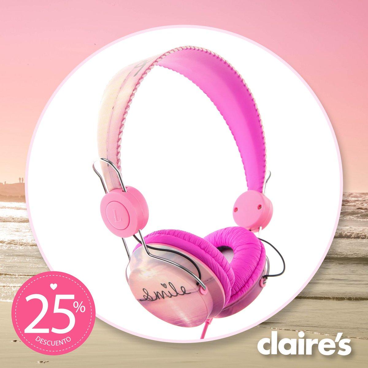 ¡La música es parte de tu vida! La línea de audífonos #Claires con 25% DE DESCUENTO https://t.co/BHtrLmS5Ou
