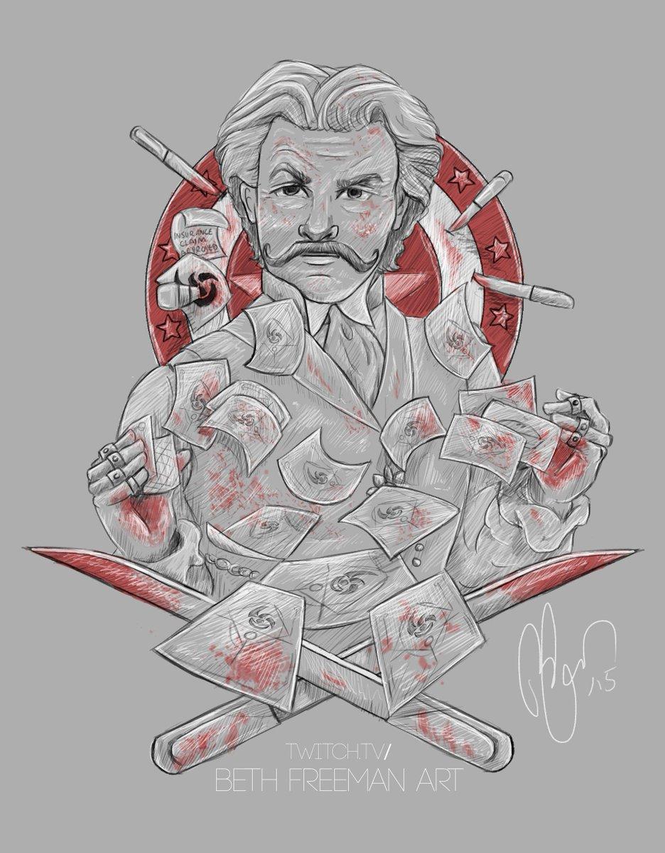 beth freeman art on twitter some bo3 zombies fanart here we have