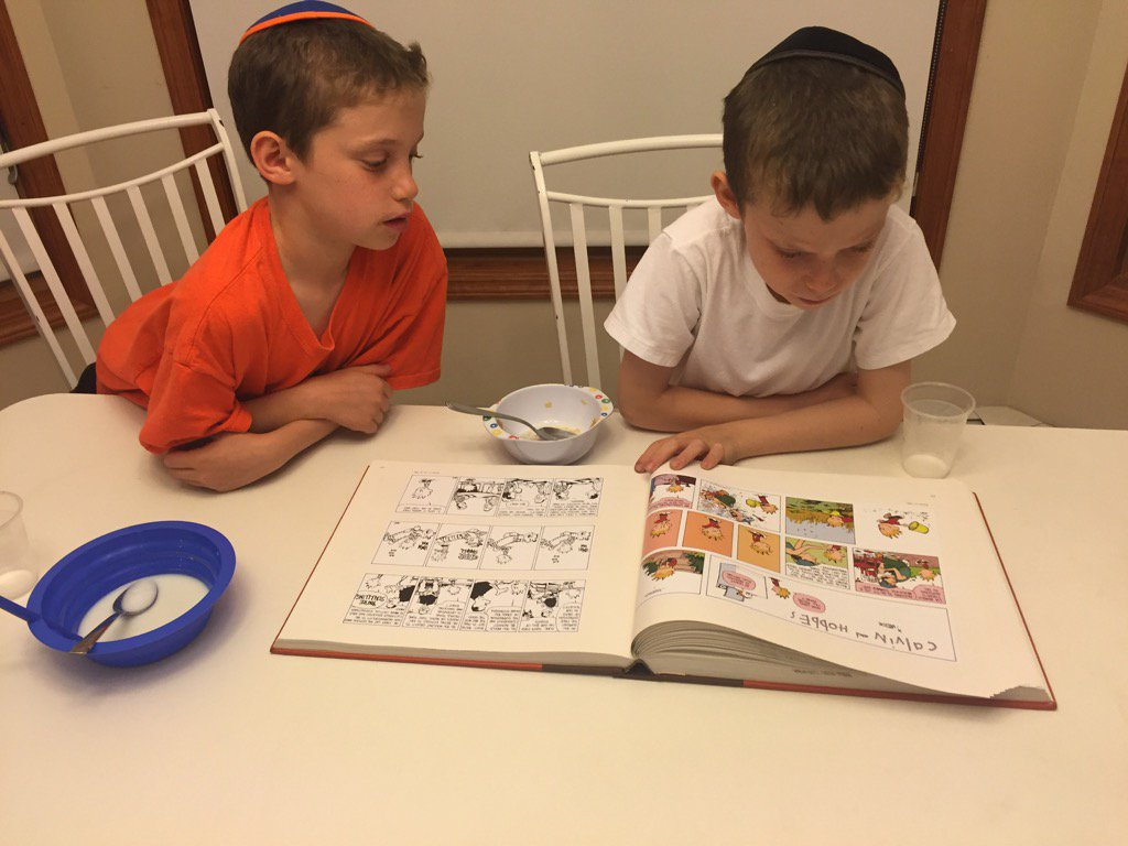 My twins have discovered Calvin and Hobbes. https://t.co/OXo0Sdfao8