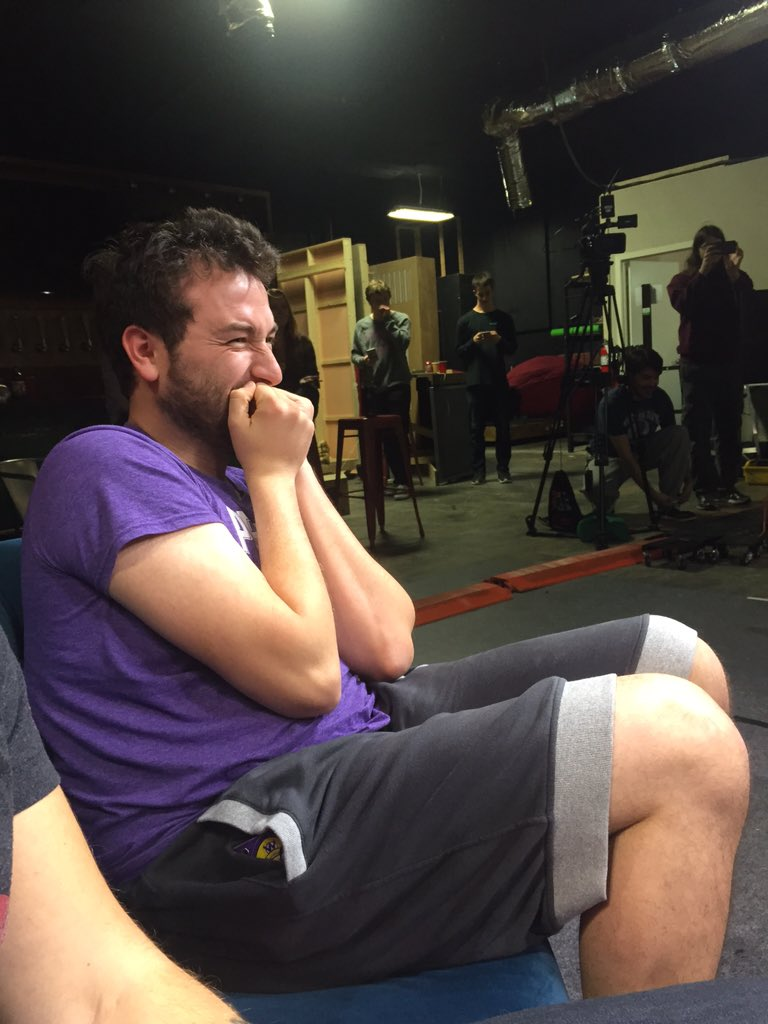 Poor @MilesLuna24 hearing @IAmLindsayJones read 50 Shades as Ruby. https://t.co/uL9M8u6dvy