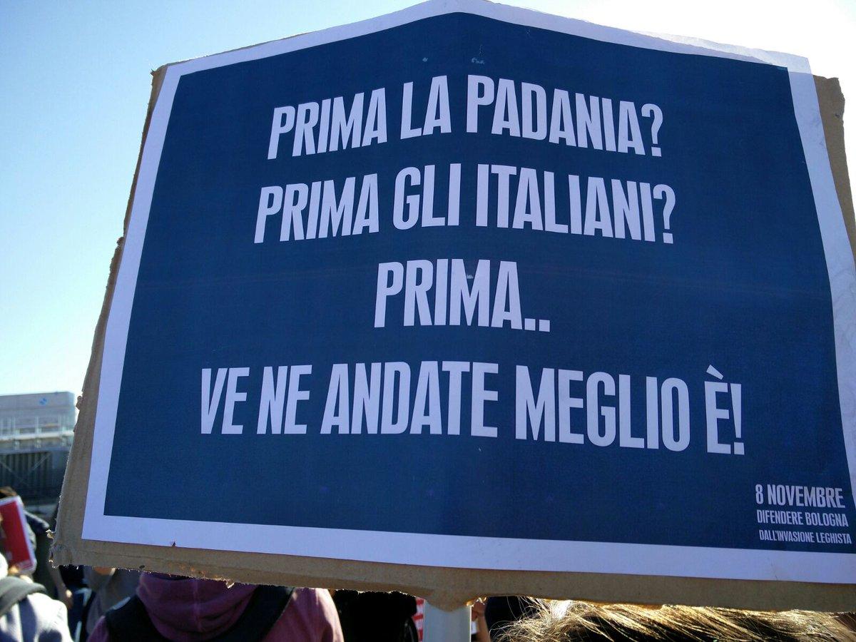 #Bologna #Bologna8N #liberiamoci Sì, ma dal leghismo e dalla barbarie della destra reazionaria! #salvini #lega https://t.co/4pigsmbqpf