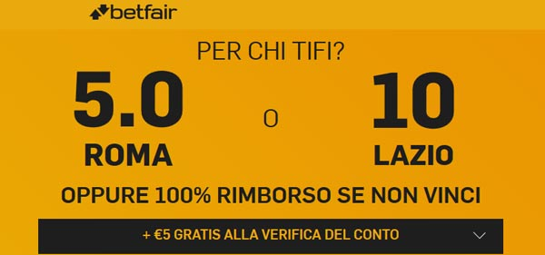 betfair.it quote maggiorate
