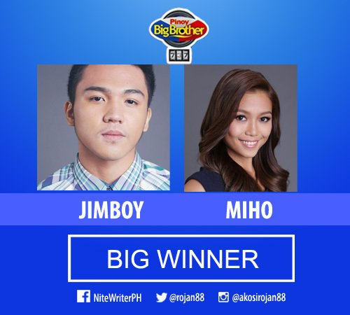 Jimboy and Miho are the PBB 737 Big Winners #PBBTheBigNight https://t.co/zMy1ArdDa4 https://t.co/dmYVkbDOfL